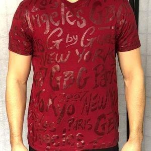 Men's guess red t shirt